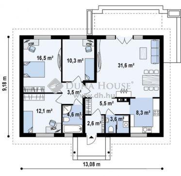 Eladó Ház, Bács-Kiskun megye, Helvécia - Helvécián 98m2-es új-építésű, napelemes téglaház
