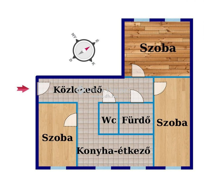 Eladó Lakás, Bács-Kiskun megye, Kecskemét - Szigetelt, nyílászáró cserélt 3 szobás lakás eladó