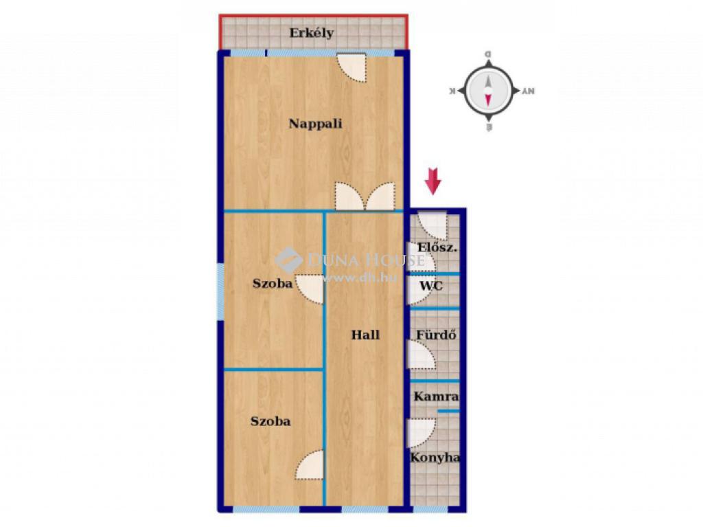 Eladó Lakás, Hajdú-Bihar megye, Debrecen - Széchenyi utcán, 1+2 szobás, nagy lakás!